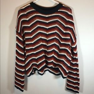 Forever 21 Sweaters - Forever 21 Bell Sleeve Waffle Knit Shirt